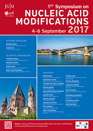 Poster of the 1st Symposium on Nucleic Acid Modifications